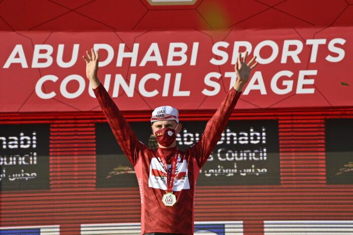 Pogacar maglia rossa UAE Tour